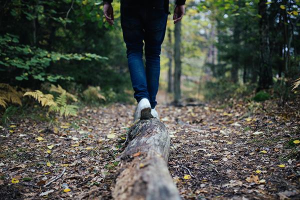 Effort Defeats Pain | Person Balancing