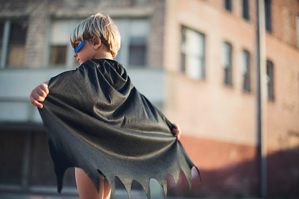 rebel hero | kid with cape