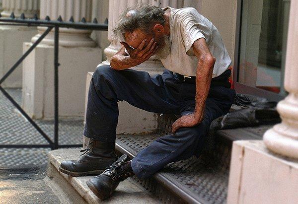 lying broken society | sad man